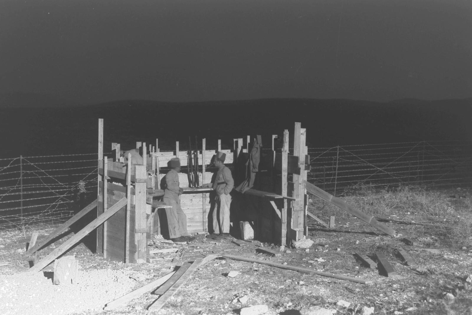 01. 1937. Члены Еврейской поселенческой полиции на посту в кибуце Эйн-А-Шофет. 16 ноября