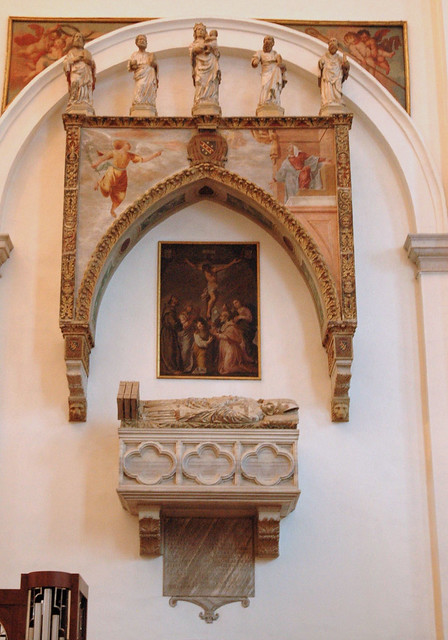 Padova, Veneto, duomo, tomb of cardinal Zabarella †1417