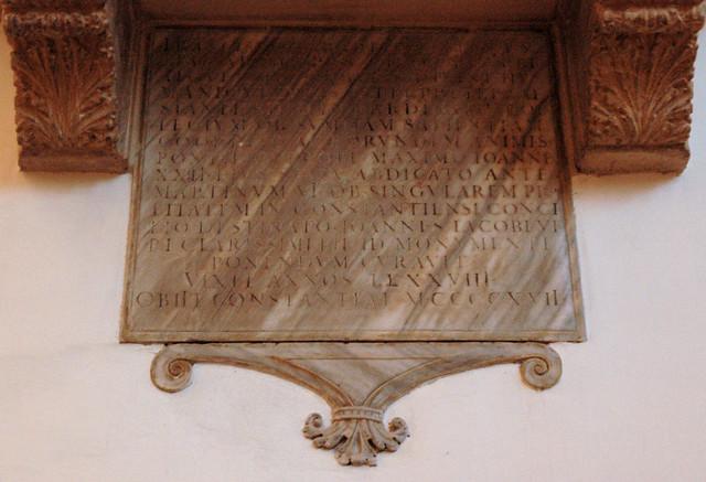 Padova, Veneto, duomo, tomb of cardinal Zabarella †1417, detail