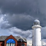 Storm over the lighthouse at Preston
