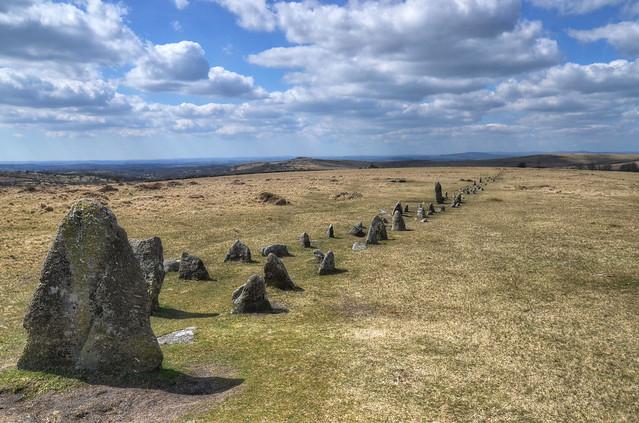 Older than Stonehenge - stone row on Dartmoor
