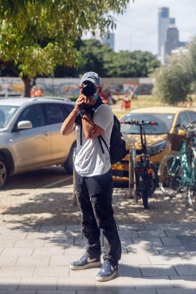 Self portrait while crossroading