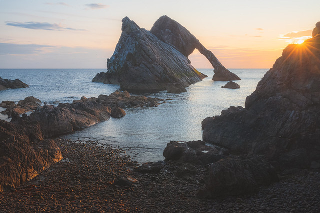 Bow Fiddle Rock, Scotland