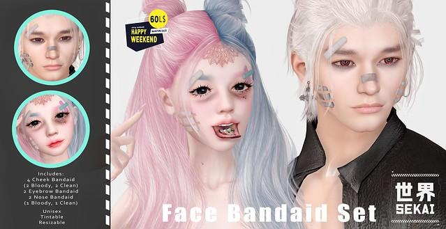 +SEKAI+ Face Bandaid Set - 60L Happy Weekend