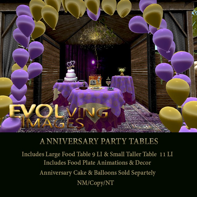 Purple & Gold Anniversary_Party Tables & Cake