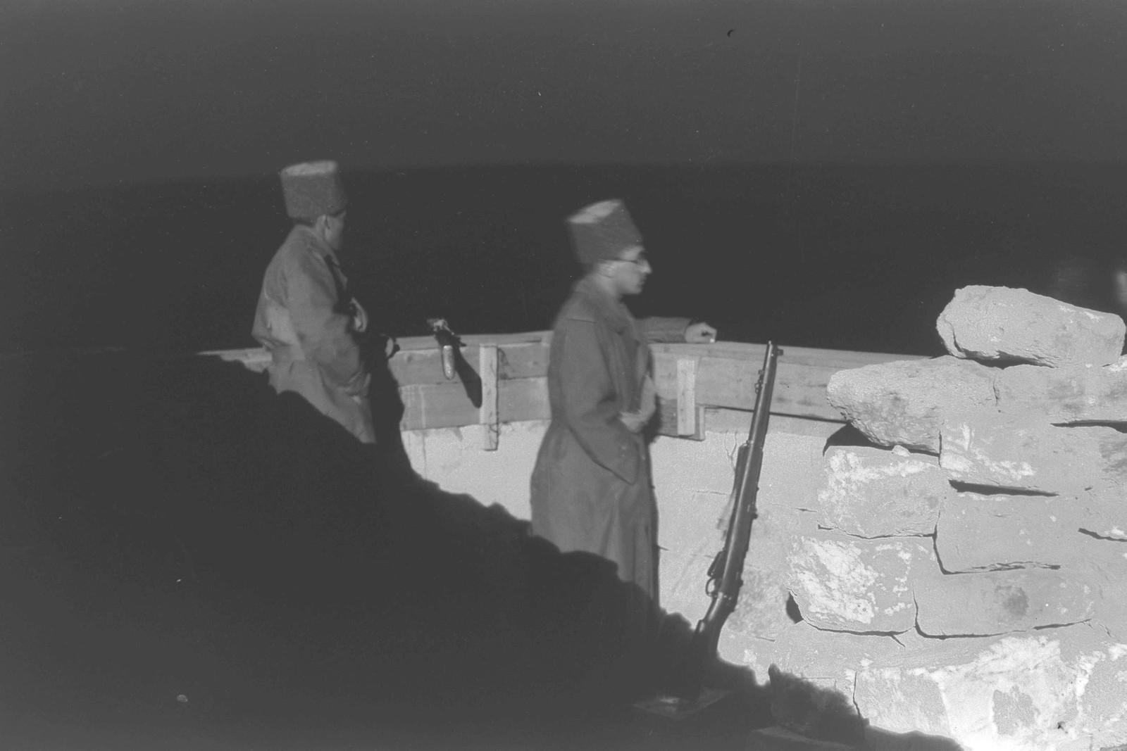 02. 1937. Члены Еврейской поселенческой полиции на посту в кибуце Эйн-А-Шофет. 16 ноября