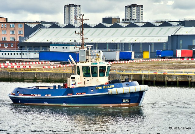 CMS Boxer on the river Clyde