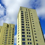 The tall 'custard towers' in Preston
