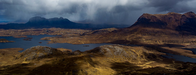 Light and shade again over Suilven