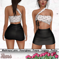 Single Strap Ruched Top and High Waisted Skirt - Desa