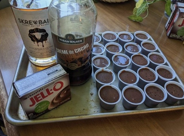Chocolate Peanut Butter Pudding Shots 🍫