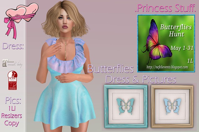 .PrincessStuff. Butterflies Hunt Gift!