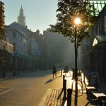 Early morning sunshine on Friargate, Preston