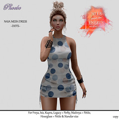 P Naia Mesh Dress ~Dots~ ENERGY WEEKEND