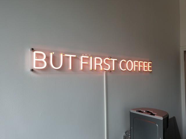 Maar eerst koffie