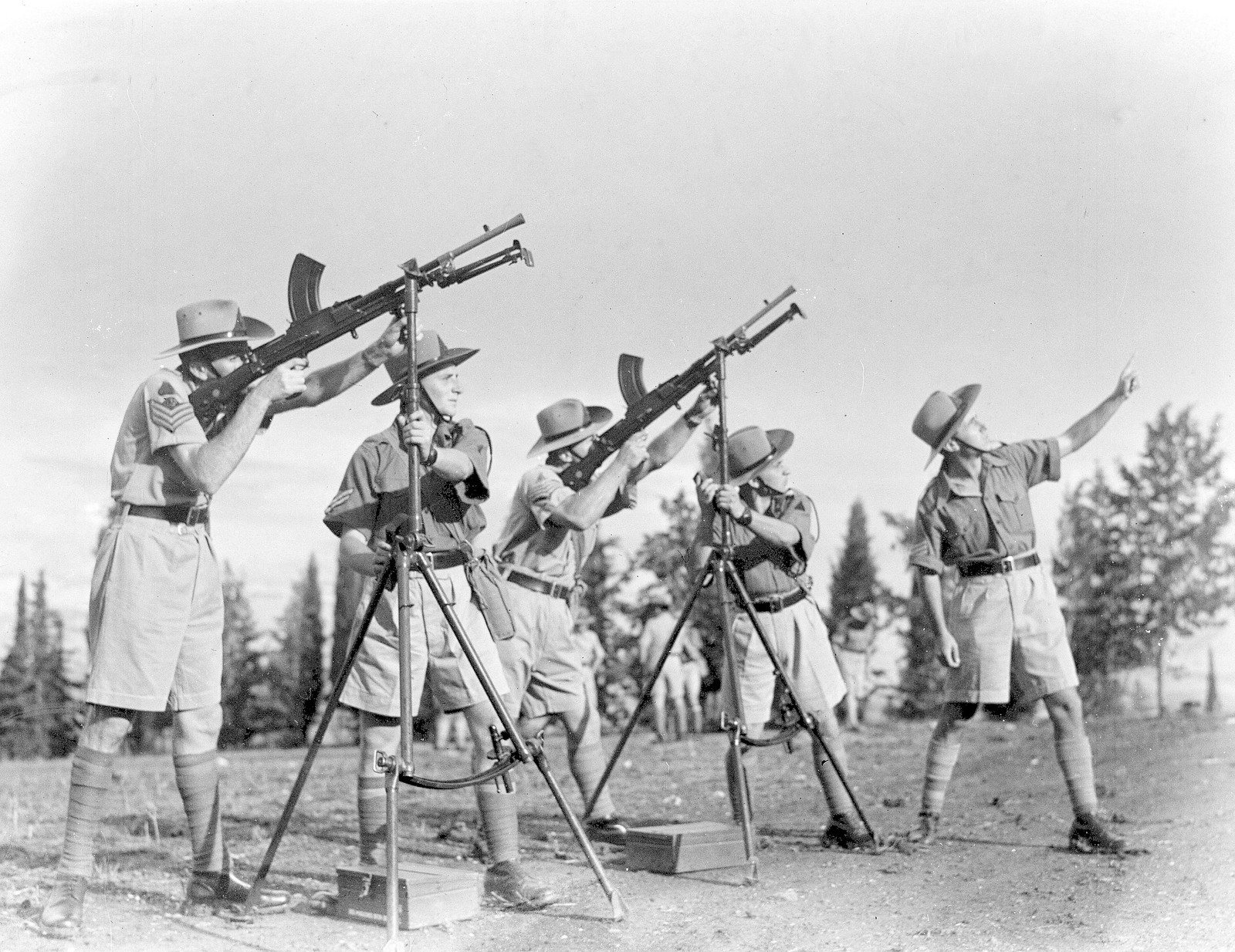 09. 1942. Еврейская поселенческая полиция во время полевых занятий на учебной базе в «Кфар Еладим»