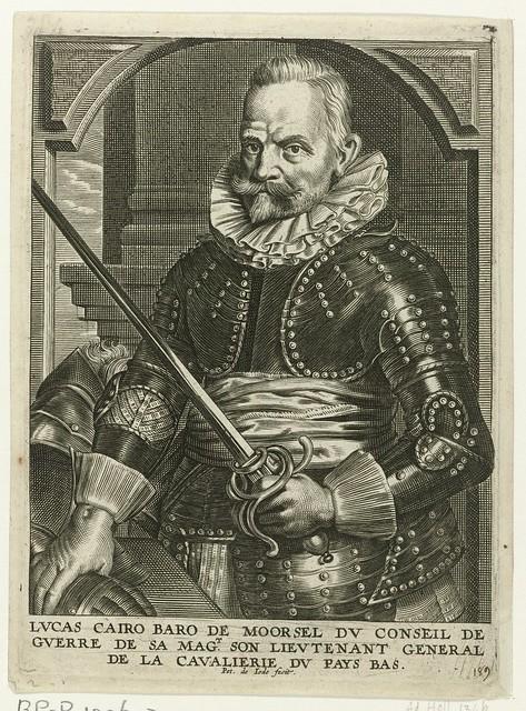Portret van Lucas Cayro, baron van Moorsel, Pieter de Jode (II), 1628 - 1670