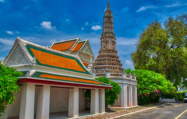 Wat Thepthidaram Worawihan on Rattanakosin island (Old Town) in Bangkok, Thailand