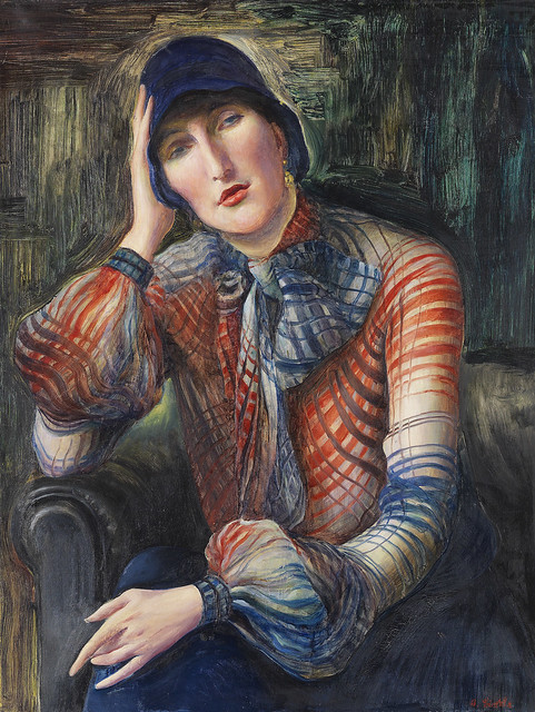 Albert Birkle - Portrait of a Woman (Elisabeth Starosta with a Chiffon Blouse and Hat) [1925-30]