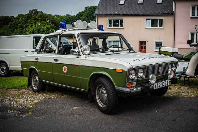 a classic GDR LADA POLICE CAR
