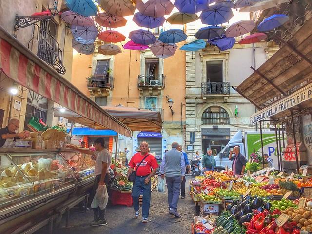 Catania market, Sicily, 意大利