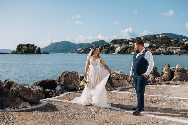 Wedding in Vlacherna Monastery - Corfu