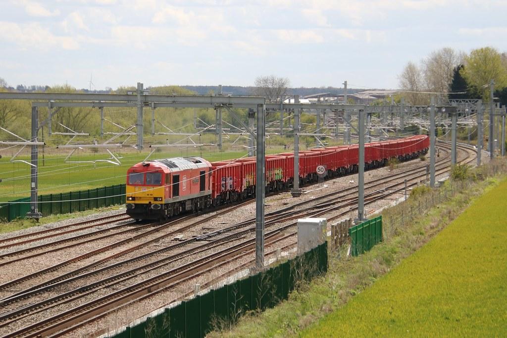 60100 Harrowden Junction, north of Wellingborough 20210507 Luton to  Briggs Sidings, Dowlow