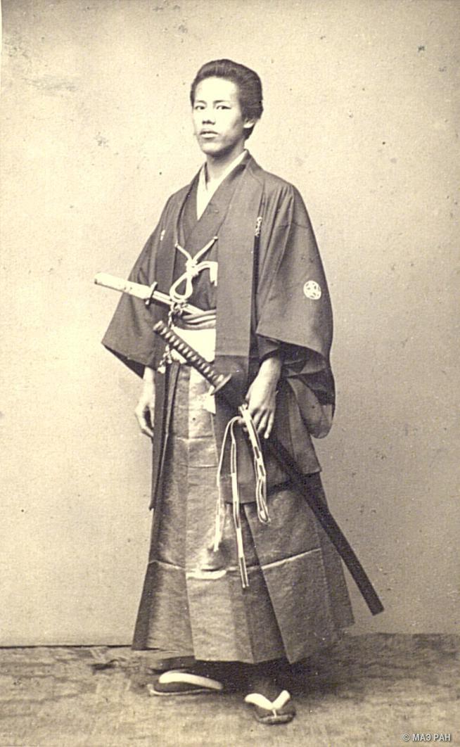 Портрет Огато Дзёдзиро в костюме самурая