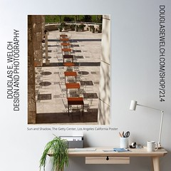 """""""Sun and Shadow, The Getty Center, Los Angeles California"""" Poster and More by Douglas E. Welch Design and Photography DouglasEWelch.com/shop/214 https://ift.tt/3f4IbfL #shadow #sun #gettycenter #losangeles #outdoors #poster #homedecor #products #forsale #"""