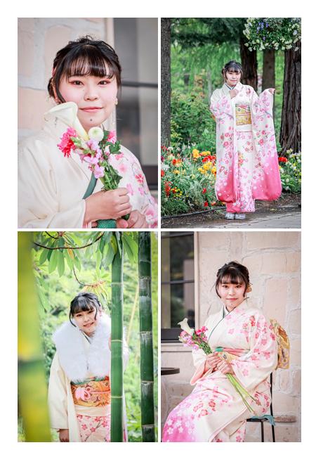 成人式写真の前撮り 名古屋市のフラリエ 竹林 ブーケ