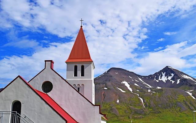 Mountain - Church. Staðarhólshnjúkar.