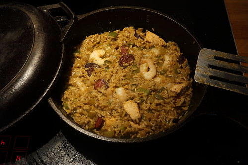 Traditionelles Jambalaya Cajun Style (fertig)