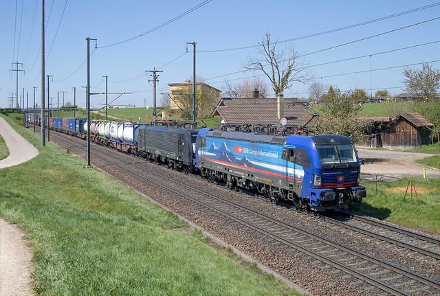 SBB Cargo 193 516 + 189 111 Möhlin