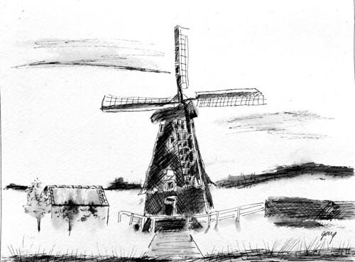 Windmill Nederhorst den berg