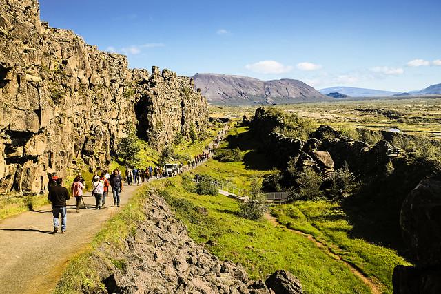 The Path Down Almannagjá