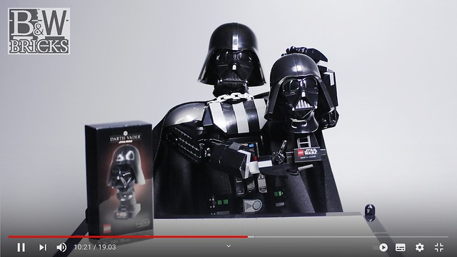 Darth Vader Reframe Buildable Figure LEGO 75304 Helmet Review (Created image)