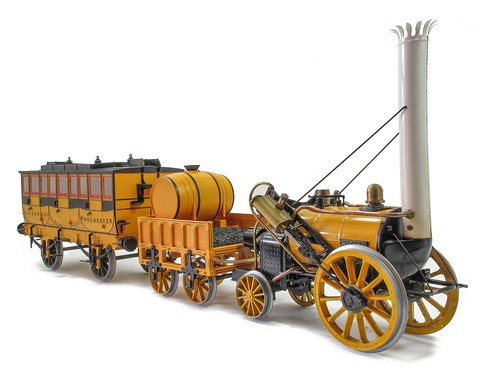 Hornby Rocket and coach