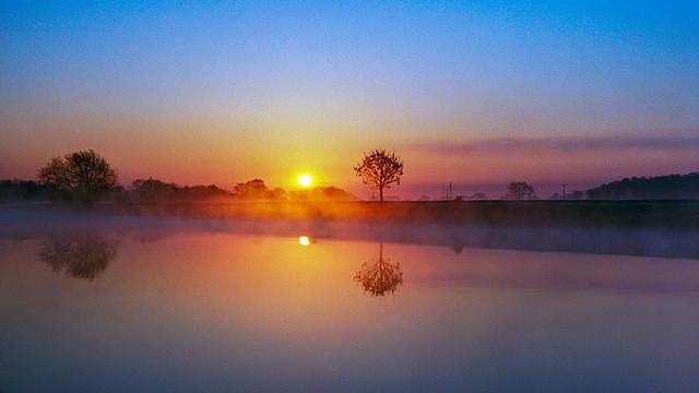 Just a simple pastel sunrise down on the river Trent.  Leica M6, Kodak Ektar