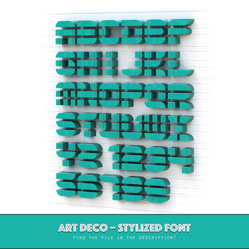 LEGO Art Deco Font – Free File!