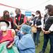 Supervisión de vacunación contra la COVID-19 en el estadio Ollataytambo en Ate Vitarte.