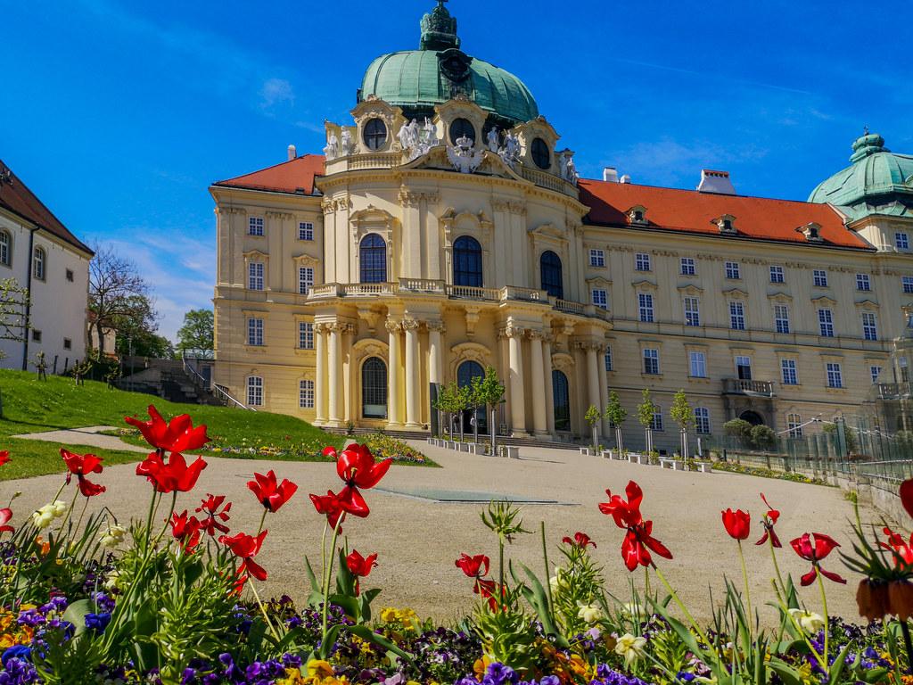 Springtime inside the compound of Klosterneuburg Abbey in Lower Austria.