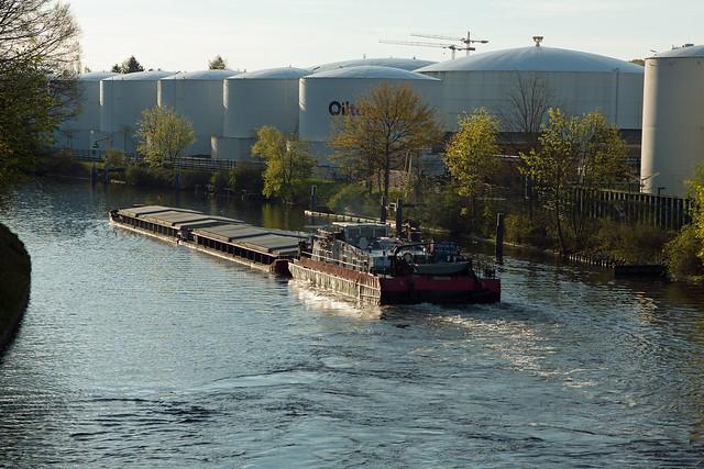 Binnenschiff Berlin Teltowkanal 9.5.2021