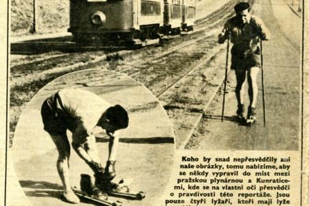 Na kolečkových lyžích v Praze a Turnově