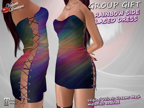 Rainbow Side Laced Dress AD