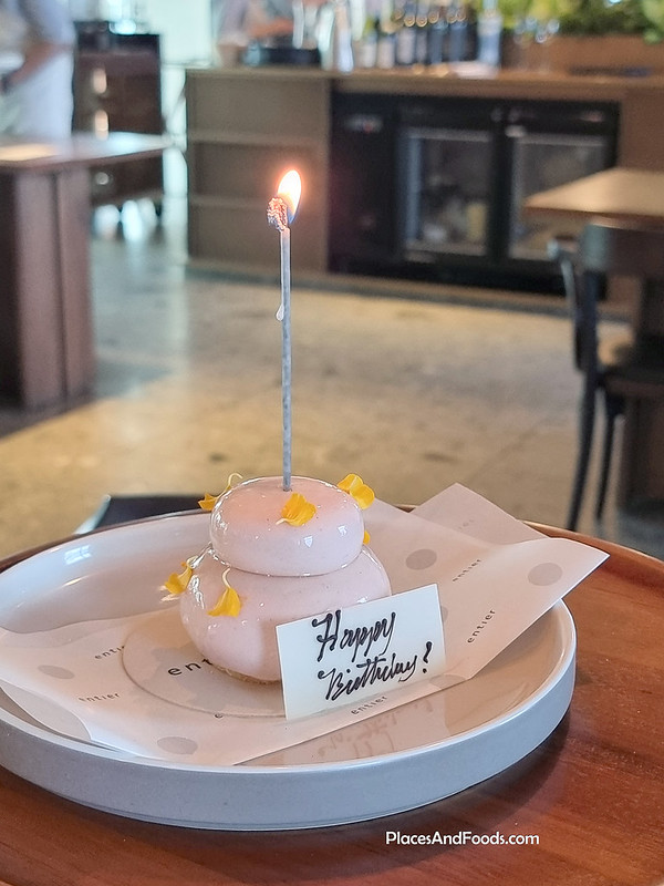 entier french dining birthday cake