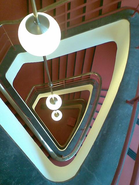 1929/31 Berlin Innenleuchten im Treppeauge Haus des Rundfunks von Hans Poelzig Masurenallee 8-14 in 14057 Charlottenburg