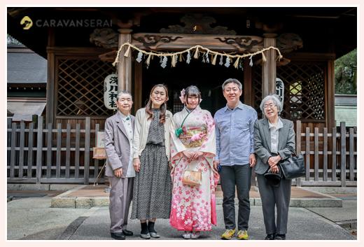 成人式写真の前撮り 深川神社(愛知県瀬戸市)