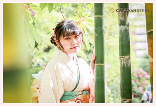 成人式写真の前撮り 竹林にて
