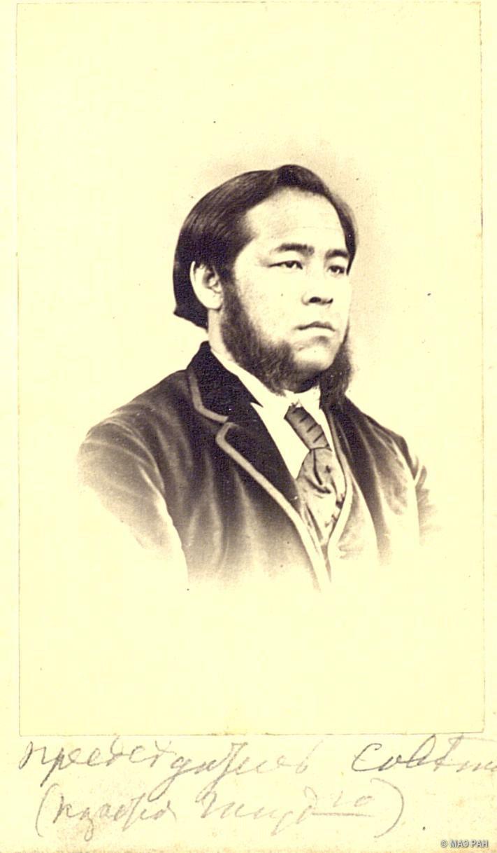 Портрет Сёдзиро Гото, председателя совета. префектура Канагава, Иокогама