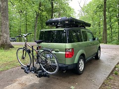 Overnight Adventure - Katy Trail: Defiance to Marthasville and back & Campout at Babler Srate Park ~ #MOAdventures #BablerStatePark #Camping #Roofnest #RoofnestSparrow